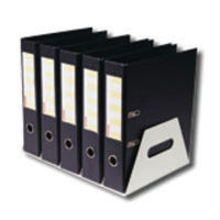 View more details about Rotadex Silver Metal 5 Section Lever Arch File Rack - LAR5GMETAL