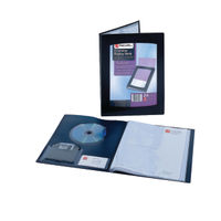 Rexel ClearView A5 Black Display Book (24 Pocket) - 10410BK