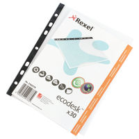 Rexel EcoDesk A5 Plastic Pockets (Pack of 30) 2102579