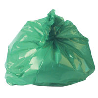 2Work Refuse Sack 100g Green, Pack of 200 - RY15561