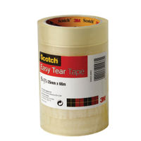 Scotch Tape - 25mm x 66m Easy Tear Tape Roll, Pack of 6 - ET2566T6