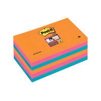 Super Sticky 76 x 127mm Post-it Bangkok Notes, Pack of 6 - 655-6SS-EG