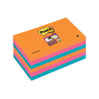 View more details about Super Sticky 76 x 127mm Post-it Bangkok Notes, Pack of 6 - 655-6SS-EG