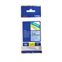 Brother P-Touch 24mm Black on Blue Labelling Tape - TZE551