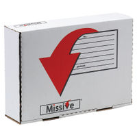 Missive Small Parcel Value Mailing Box 215 x 315 x 77mm, Pack of 20 - 7272006