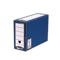 Fellowes Premium Fast Fold Transfer Files, Blue/White - 10 Pack - 00059-FF