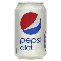 View more details about Pepsi Diet 330ml Cans, Pack of 24 | 402048