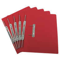 Rexel Jiffex Red Foolscap Transfer Files 315gsm - Pack of 50 - 43218EAST