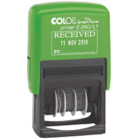 COLOP Green Line RECEIVED and Date Self-Inking Stamp - OFS260L1
