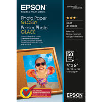 View more details about Epson 100 x 150mm White Glossy Photo Paper, 200gsm- 50 Sheets - C13S042547