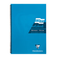 Europa Turquoise A5 Wirebound Notebook, Pack of 5 - 5812Z