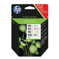 HP 950XL Black and 951XL Colour Ink Combo  4 Pack   C2P43AE