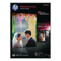 HP Premium Plus White A4 Glossy Photo Paper, 300gsm - 50 Sheets - CR674A