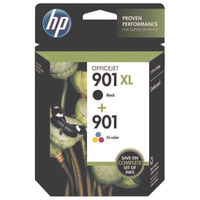 HP 901 XL Black and 901 Colour Ink Cartridge Multipack - SD519AE