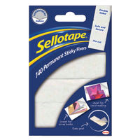 Sellotape Permanent Sticky  Fixers 12 x 25mm (Pack of 140) - 1445422
