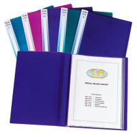 Snopake Electra Assorted A3 Display Book, 24 Pockets - Pack of 5 - 14103