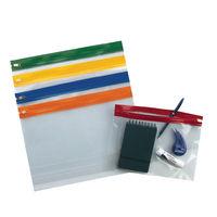 Snopake Assorted A4 Zippa-Bags,  - Pack of 25 - 12796