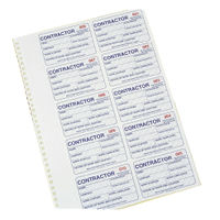 Identibadge Contractors Management System Refill, Pack of 100 - IBCONR