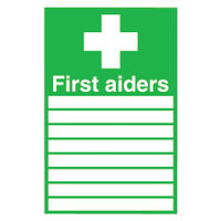 View more details about First Aiders (300 x 200mm) Safety Sign - FA01926R