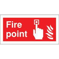 Fire Point 100 x 200mm Safety Sign - FR07903S