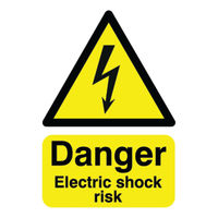 View more details about Danger Electric Shock Risk A5 Self-Adhesive Safety Sign - HA10751S