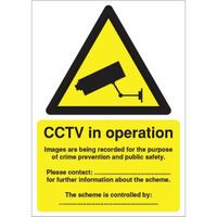View more details about CCTV Data Protection Act Compliant A5 Self-Adhesive Warning Sign - DPACCTVS