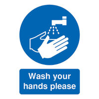 Safety Sign 'Wash Your Hands Please' A5