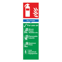 View more details about Safety Sign Fire Extinguisher Dry Powder 300x100mm PVC FR02625R