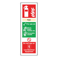 Safety Sign Fire Extinguisher Foam 300mm x 100mm - F202/S