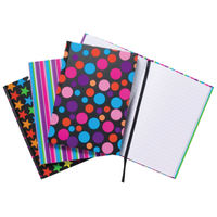 A5 Fashion Assorted Casebound Notebooks, Pack of 5