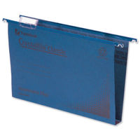Rexel Crystalfile Classic Foolscap Blue Suspension Files 30mm - Pk50 - 70625