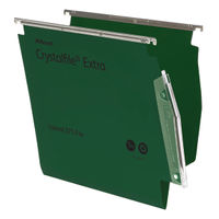 Rexel Crystalfile Extra Lateral File, A4, 15mm, Green, Pack of 25 - 70637