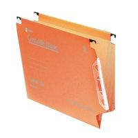 Rexel Crystalfile Classic Lateral File, 15mm, Orange - Pack of 50 - 70671
