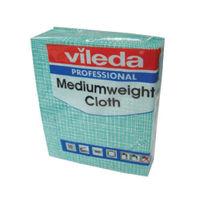 Vileda Green Medium Weight Cloths, Pack of 10 - 106401