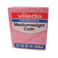 Vileda Red Medium Weight Cloths, Pack of 10 - 106400