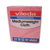 View more details about Vileda Red Medium Weight Cloths, Pack of 10 - 106400