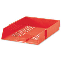 View more details about Red Contract Letter Tray - WX10055A