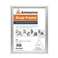 Announce Silver A3 Snap Frame - SNAPA3