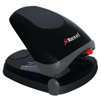 Rexel Easy Touch Hole Punch Black/Grey - 2102575