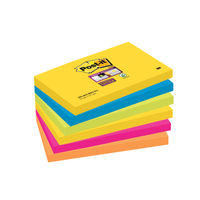 Post-it Rio 76 x 127mm Super Sticky Notes, Pack of 6 - 655-6SS-RIO-EU