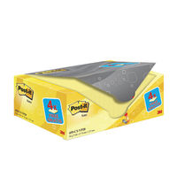 Canary Yellow 76 x 127mm Post-it Notes, Pack of 20 - 655CY-VP20