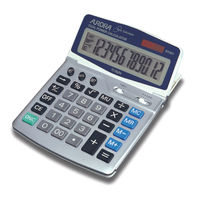 Aurora DT401 Large Desktop Euro Conversion Calculator, 12 Digit Display - 566888