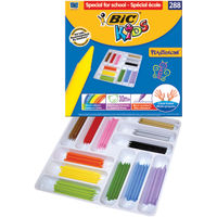 BIC Kids Plastidecor Colouring Crayons, Pack of 288 - 887835