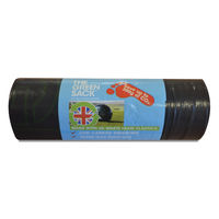 The Green Sack Black Medium Duty Refuse Sacks on a Roll, Pack of 15 - GR0771