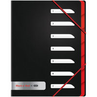 Black n Red A4 7 Part Folder - 400051534
