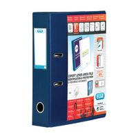 Elba Vision PVC Blue A4 Lever Arch File 70mm, Front/Back Pocket - 100082303