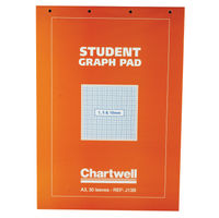 Chartwell A3 Student Graph Pad 30 Leaf 1, 5, 10mm - J13B