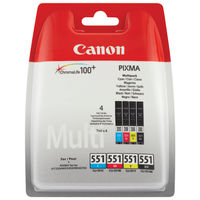 Canon CLI-551 CMYK Ink Cartridge Multipack
