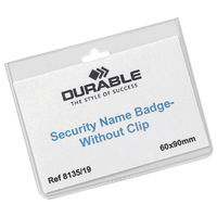 Durable Security Badge Holders, Pack of 20 - 8135/19