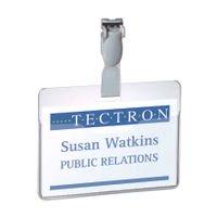 Durable Visitor Badge Holders Clear, Pack of 25 - 8147/19